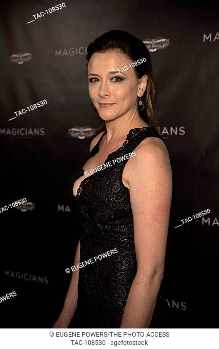 Anna Campbell arrives at  Magicians: Life In The Impossible - LA Premiere at the Vista Theater on November 15th, 2016 in Los Angeles, California