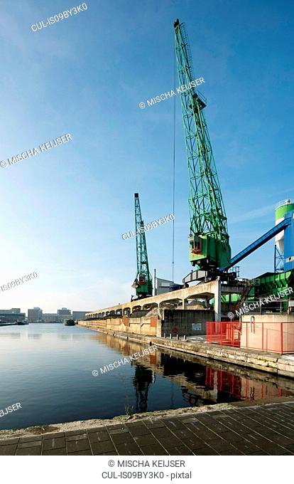 Harbour for transhipment of raw building materials, The Hague, Zuid-Holland, Netherlands