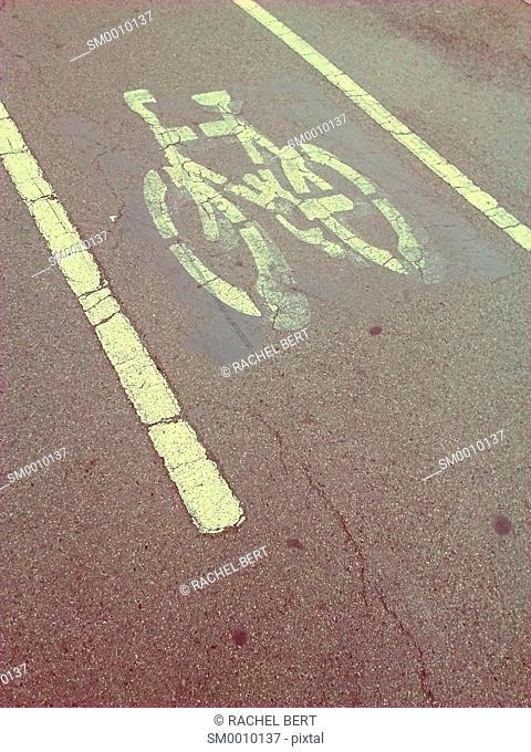 Bike path, Diagonal Avenue, Barcelona, Catalonia