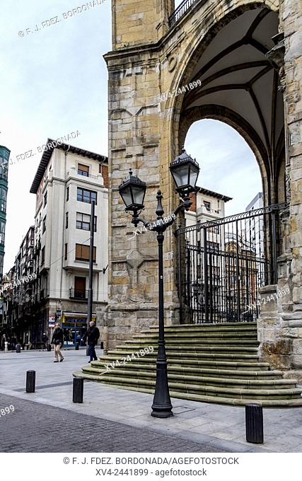San Antón Church, Bilbao old town, Biscay, Basque Country, Spain