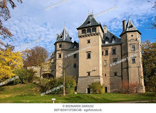 Castle in Goluchow, village in Geater Poland Voivodeship