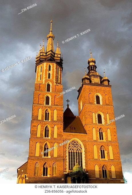 Poland Krakow Church of St Mary at Main Market Square