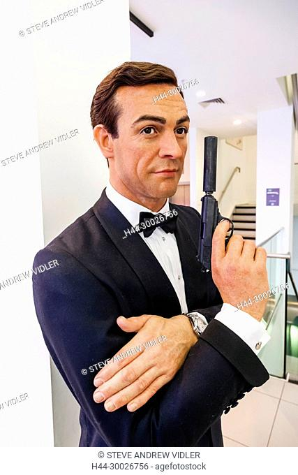 England, London, Covent Garden, London Film Museum, Wax Figure of Sean Connery as James Bond