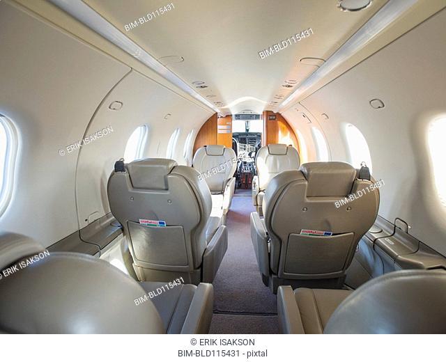 Empty seats on private jet