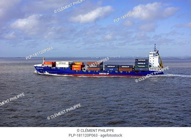 Samskip Innovator, container vessel sailing on the North Sea