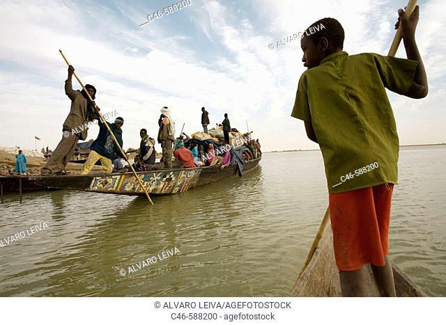 Niger river near Timbuktu, Mali. Africa