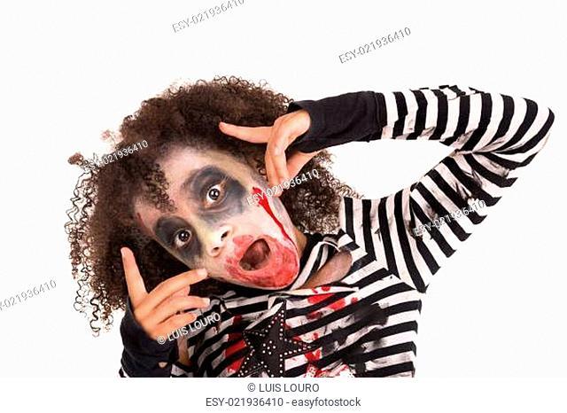 Young girl Zombie in Halloween