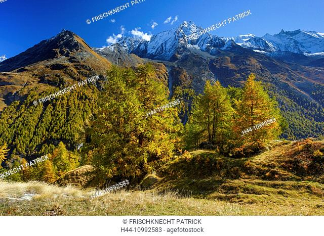 Grande Dent de Veisivi, Dent de Perroc, Aiguille de la Tsa, Valais, Switzerland