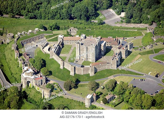 Dover Castle. Aerial view