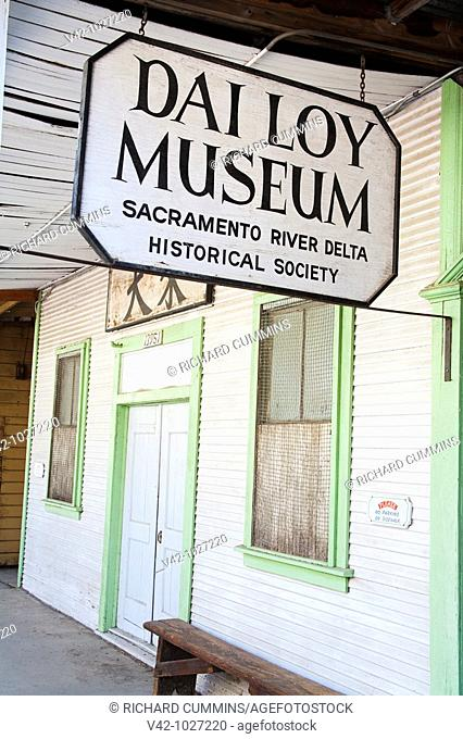Dai Loy Museum in Locke historic Chinese Town, Sacramento Delta Region, California, USA