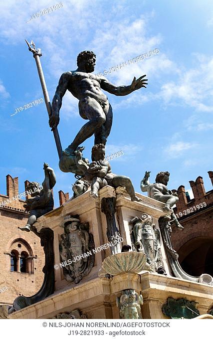 Fontana Nettuno. Bologna, Italy