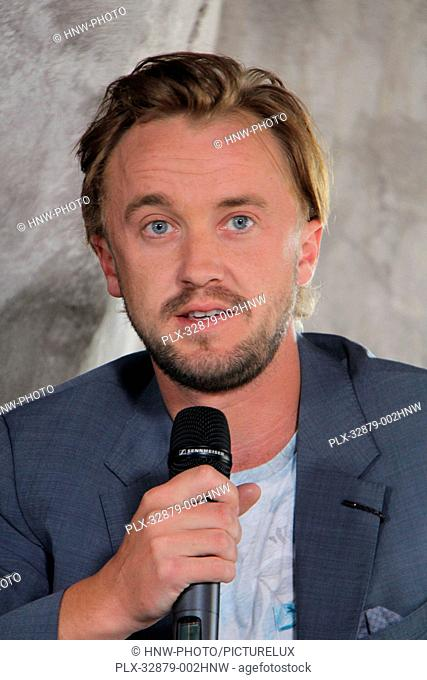 Tom Felton 04/06/2016 The Wizarding World of Harry Potter Media Preview Day held at the Universal Studios Hollywood in Hollywood