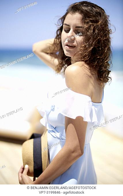 woman, holiday, summer, portrait