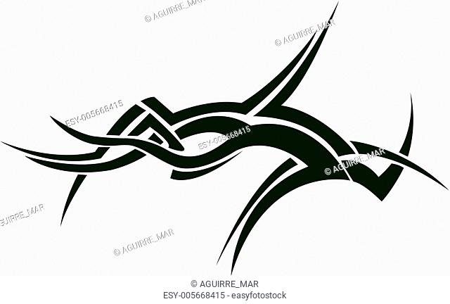 Tattoo, abstract symbol