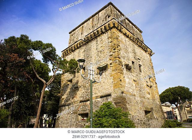 View of the Matilde Tower in Viareggio Versilia medieval period