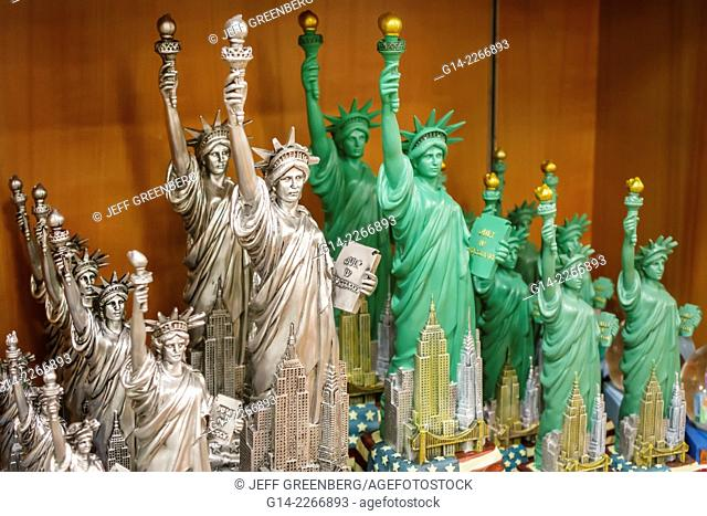 New York, New York, John F. Kennedy International Airport, JFK, terminal, concourse, gate area, shopping, display, sale, souvenirs, miniature, Statue of Liberty