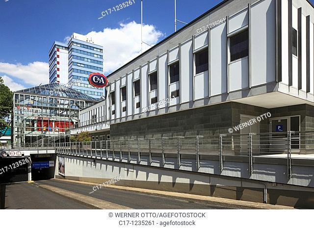 Germany, Leverkusen, Rhine, Lower Rhine, Dhuenn, Wupper, Rhineland, Bergisches Land, North Rhine-Westphalia, Leverkusen-Wiesdorf, City Center, shopping arcade