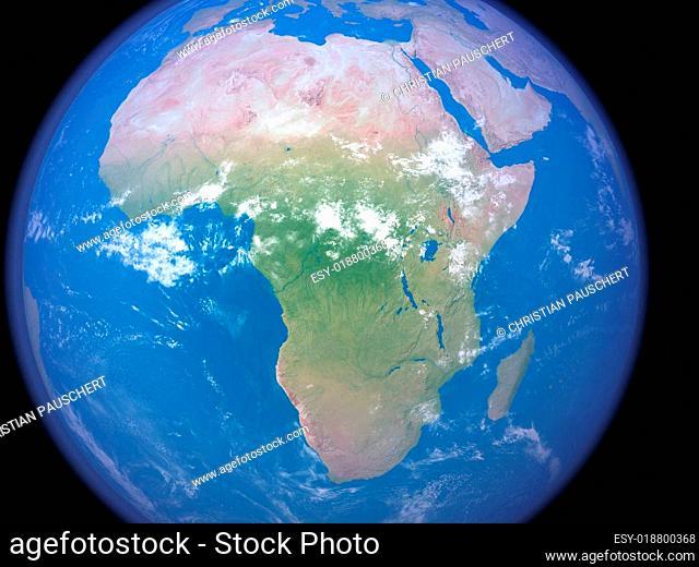 Afrika aus dem Weltraum