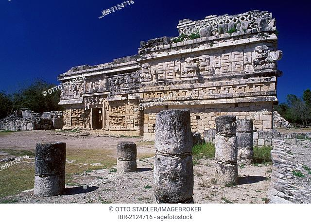 Nunnery, Mayan ruins of Chichen Itza, Yucatan, Mexico, North America