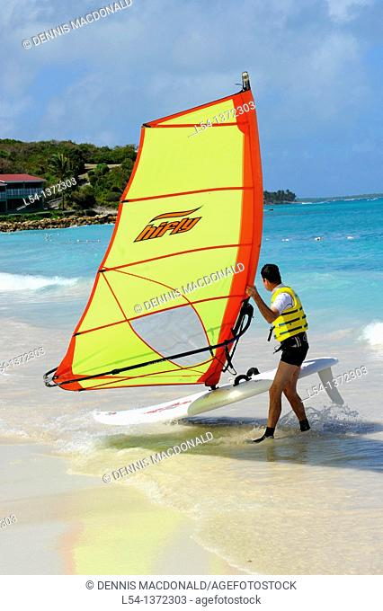 Windsurfing Long Bay Beach St  John's Antigua Caribbean Cruise NCL