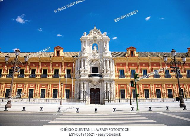 public building at Seville city Andalusia in Spain