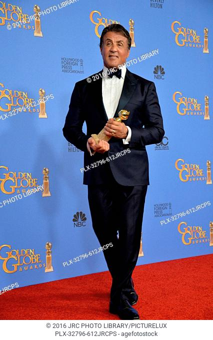 Sylvestor Stallone at the 73rd Annual Golden Globe Awards at the Beverly Hilton Hotel. January 10, 2016 Beverly Hills, CA