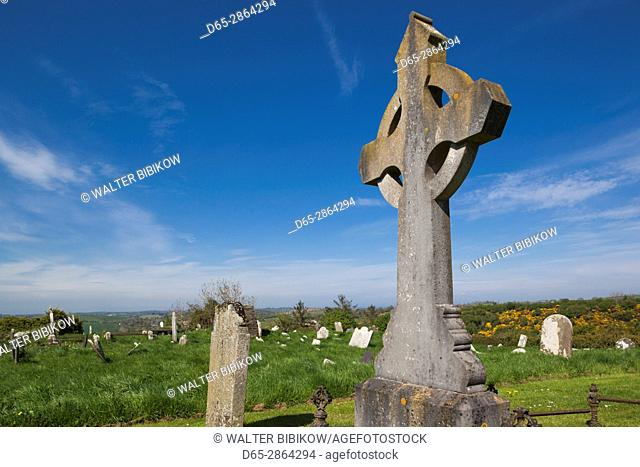 UK, Northern Ireland, County Down, Saul, Saul Church, site of the first Christian convert in Ireland made by St. Patrick, cross