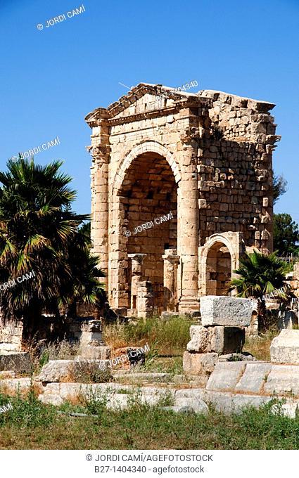 Roman Triumphal Arch, Al Bass site , Tyre Sour, UNESCO World Heritage Site  Lebanon