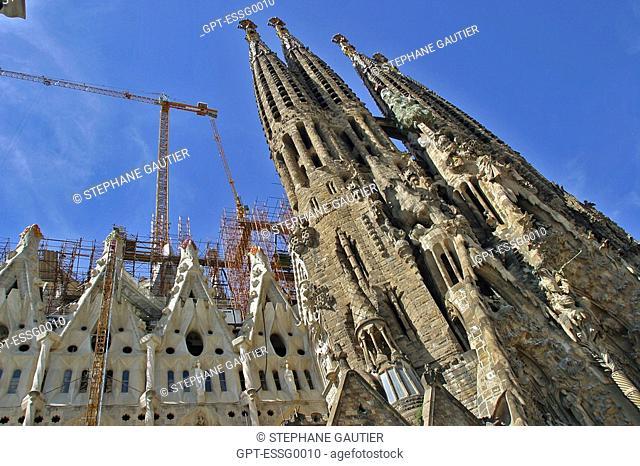 THE SAGRADA FAMILIA, BARCELONA, SPAIN, EUROPE