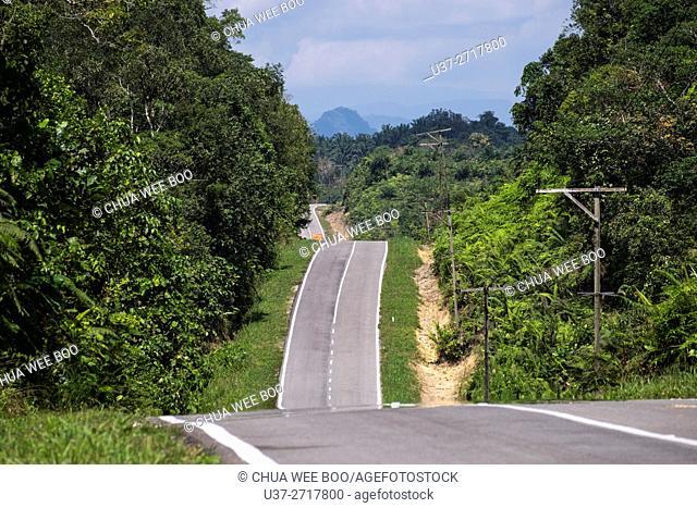 Bau-Gumbang road, Sarawak, Malaysia