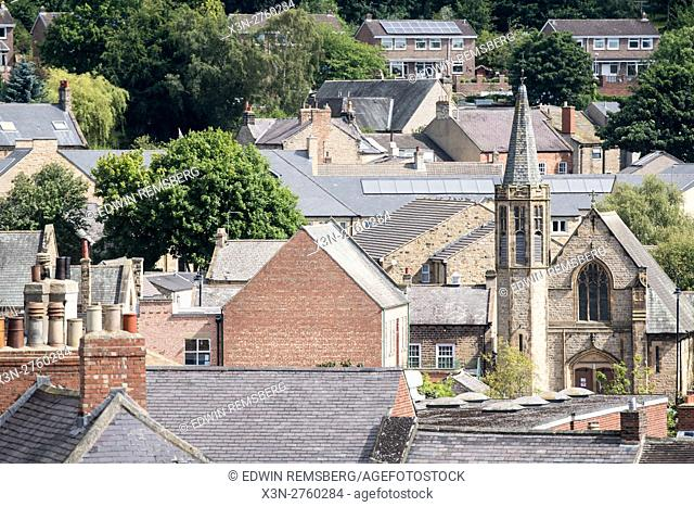 UK, England, Yorkshire, Richmond - Traditional architecture in the city of Richmond located in Northern Yorkshire