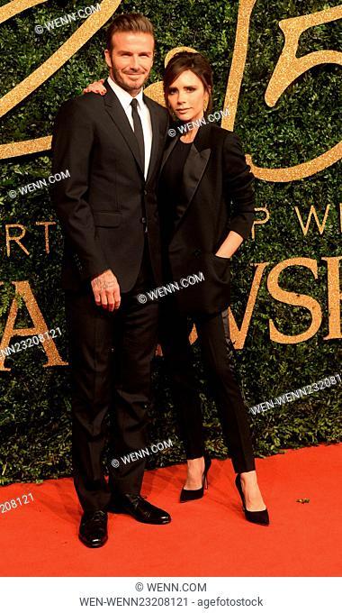 The British Fashion Awards 2015 Featuring: David Beckham, Victoria Beckham Where: London, United Kingdom When: 23 Nov 2015 Credit: WENN.com