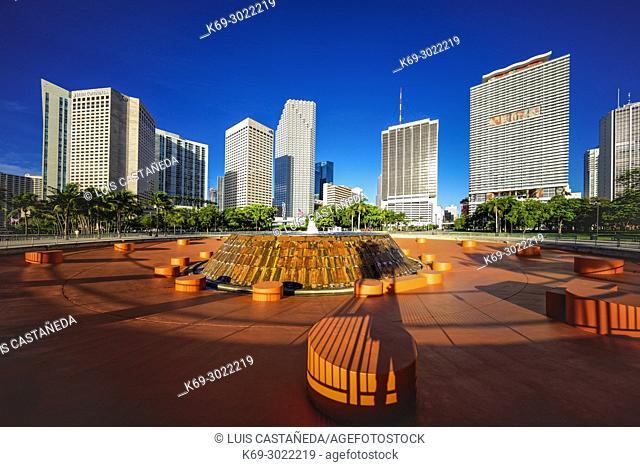 Bayfront Park. Downtown Miami. Florida. USA