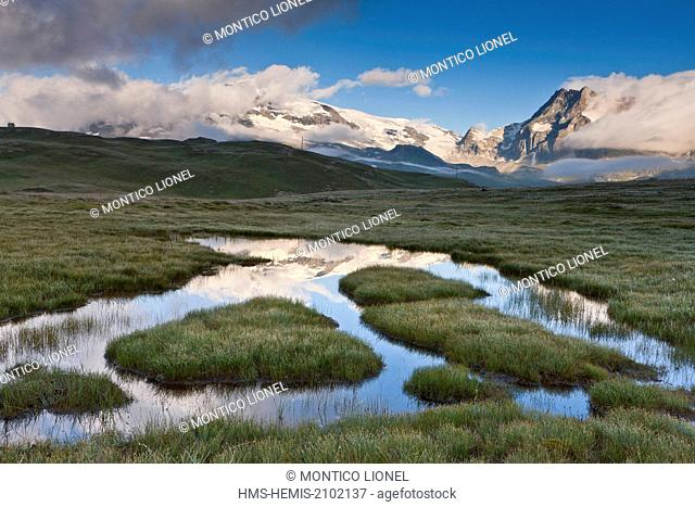 France, Savoie, Parc National de la Vanoise (National park of Vanoise), the Plan of the Lake and the glaciers of the Vanoise