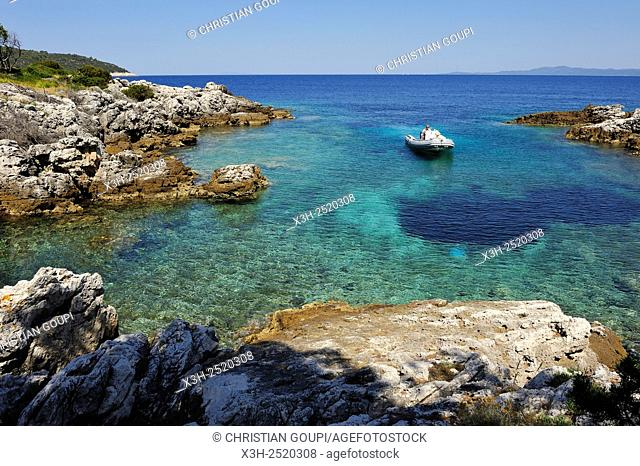 small creek in the north of Prezba island, Lastovo island, Croatia, Southeast Europe