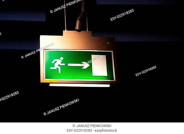 Emergency exit, illuminated board
