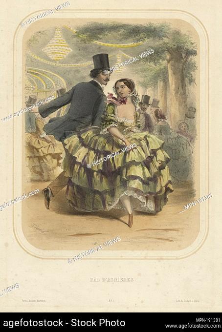 Bal d'Asnières. Vernier, Charles, 1831-1887 (Lithographer) Godard, A (Printer of plates) Maison Martinet (Paris, France) (Publisher)