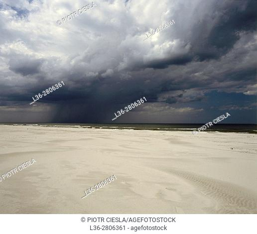 Poland. Baltic Sea. Strom is coming