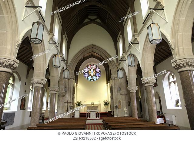 St Mary St Finnan's Church inside, Inner Hebrides, Scotland, United Kingdom