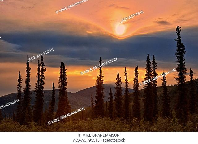 Ogilvie Mountains at km 167 on the Dempster Highway Dempster Highway Yukon Canada