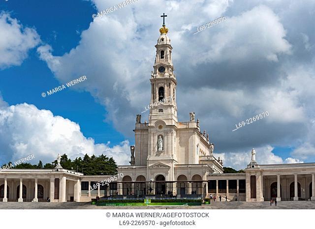 Basilica Antiga, Sanctuary of Our Lady of Fatima, Pilgrimage site Fatima, Ourem, District Santarem, Portugal, Europe