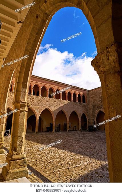 Mora de Rubielos Castle in Teruel Spain located on Gudar Sierra