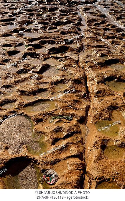 Sandy rocky Jalasar Beach Gujrat India Asia