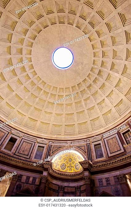 Pantheon cupola in ancient Rome, It