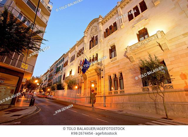 Spain, Balearic islands, Majorca, Palma, Parliament building