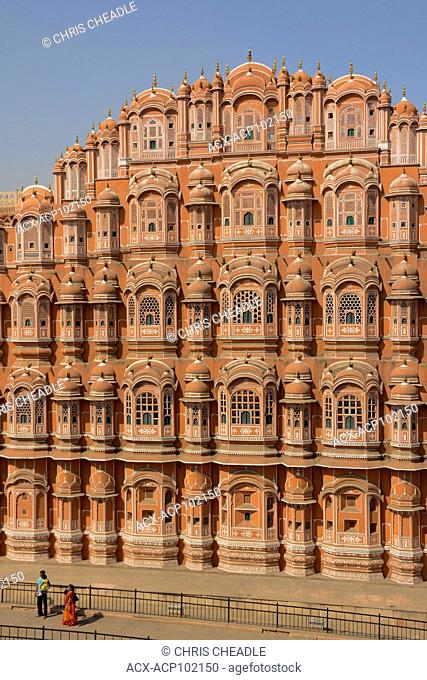 Hawa Mahal , 'Palace of Winds' or 'Palace of the Breeze' in Jaipur, Rajastan, India