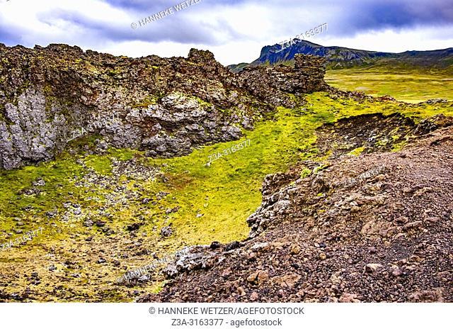 Saxholl crater, Snæfellsnes, West-Iceland