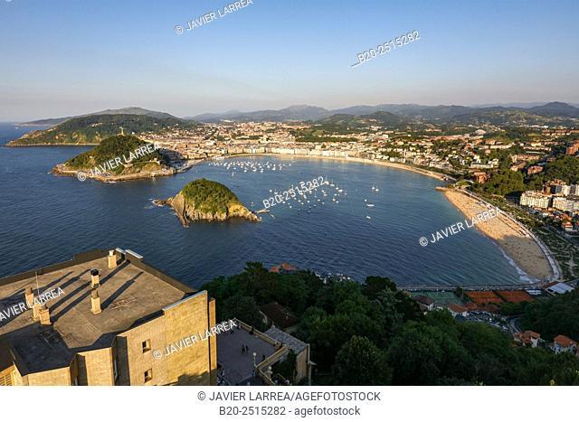 La Concha Bay. Monte Igeldo. Donostia. San Sebastian. Gipuzkoa. Basque Country. Spain