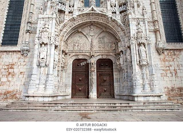 South Portal to Jeronimos Monastery in Lisbon