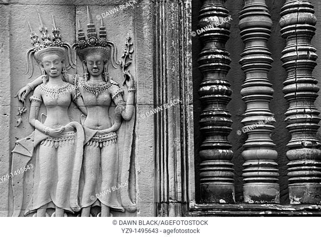 Apsaras , Angkor Wat , Siem Reap , Cambodia